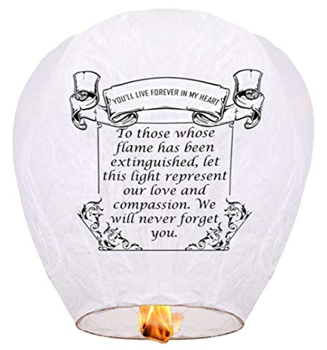 Sky Lanterns are Good Wishes.Suitable for Party,Weddings,Birthdays and Commemorating Relatives, 100% Biodegradable (10 Packs)