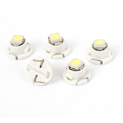sourcing map 5 pcs T4.7 femelle blanche 5050 SMD LED Ampoule Compteur Tableau De Bord interne 12V