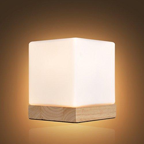 Veilleuses Lampes et éclairage Lampe de Glace E27 chêne Base Verre de Nuit 12 * 14cm