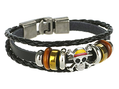 CoolChange One Piece Wickel Armband mit Jolly Roger