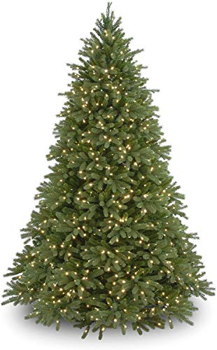 National Tree Company 'Feel Real' Pre-lit Artificial Christmas Tree | Includes Pre-strung White...