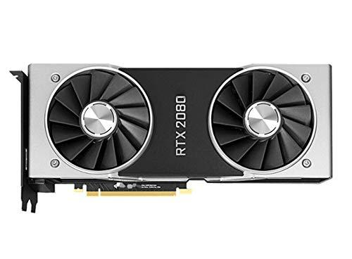 XIKONG RTX 2080TI 8GB Grafikkarte, Grafikkarte GDDR6 Hochleistungs-GPU-geräuscharmer niedriger Verbrauch Doppelfächerkühlung PC-Zubehör