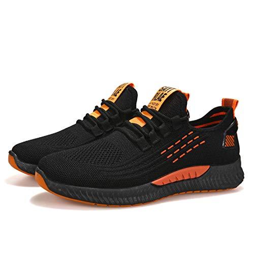IGZNBBD Zapatillas deportivas para hombre, ligeras, transpirables., color Negro, talla 39 EU