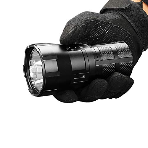 IMALENT RT90 LED Flashlight 4800 Lumens Long Beam Distance 1308 Meters High Lumen Rechargeable Tactical Flashlights Super Bright Handheld Flashlight