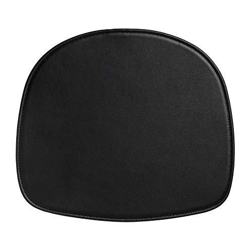 HAY About A Stool Sitzkissen Leder, schwarz Leder LxBxH 38x34,5x0,5cm rutschfest