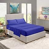 Nestl Deep Pocket Split King Sheets: 5 Piece Split King Size Bed Sheets with Fitted Sheet, Flat Sheet, Pillow Cases - Extra Soft Bedsheet Set with Deep Pockets for Split King Mattress - Royal Blue