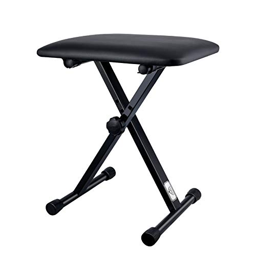 Eastrock Adjustable Piano Keyboard Bench, X-Style Stool Chair Seat for Electronic Keyboards & Digital Pianos (Original Version)