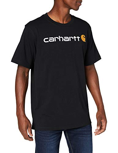 Carhartt Core Logo Workwear Short-Sleeve T-Shirt, Black, L Uomo