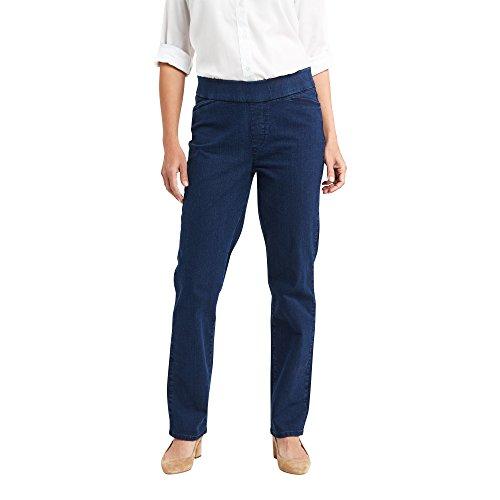 Wrangler Authentics Women's Easy-Fit Elastic-Waist Pant, Starlight, 14 Petite