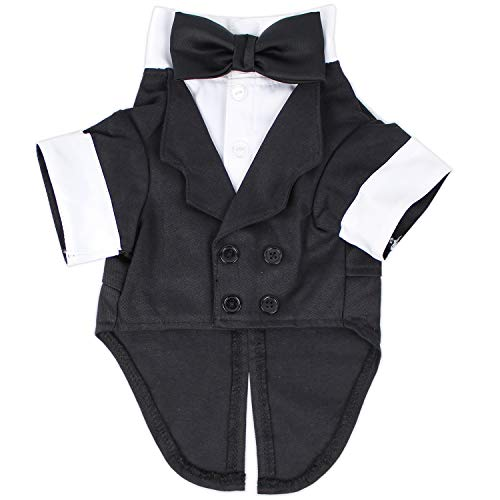 Parisian Pet Party Dog Tux Holiday Wedding Special Occasions Tuxedo Outfits for Dogs and Cats