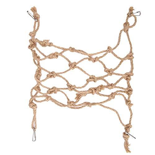 Sorand Hängendes Schaukelnetz Vogelspielzeugnetz, S/L Hängemattenspielzeugdekor Verstellbares Papageienkletternetz, für Sittich für Papageienkleine Haustiere Hamster(small)