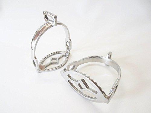 Edler spanischer barocker Steigbügel Silber - 90° gedreht