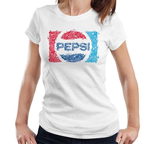 Pepsi 70s Doodle Art Logo Women's T-Shirt