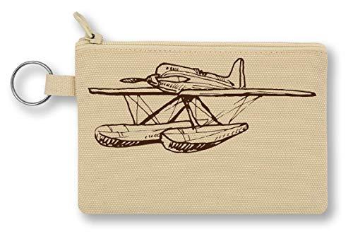 Water Plane Aircraft Artwork portemonnee met ritssluiting