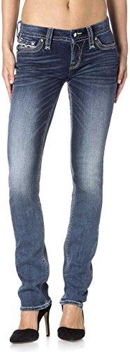 Rock & Revival–Donna Hans Dritto Jeans Blu Denim