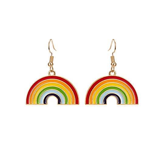 Clásico Lgbt arco iris bandera pendientes gay orgullo encanto aleación esmalte colgante pendientes para hombres mujeres moda joyería regalo