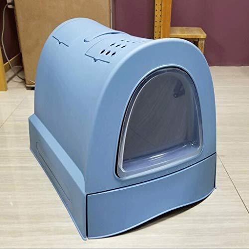 Jlxl Cat afvalbak bak volledig gesloten lade kat toilet oversized Splash-proof kat zand wastafel schotel deodorant poeder kat benodigdheden