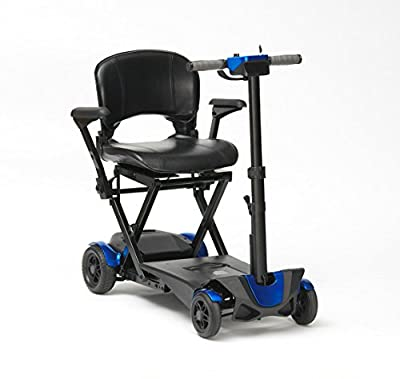 Drive DeVilbiss 4 Wheel Auto Folding Scooter –Lightweight Folding Power Scooter – 4 Wheel Motorized Scooter – Mobility Scooter for Adults (Blue)