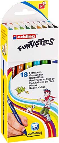 edding 15 FUNTASTICS fibre pen for children 18 assorted colours 1mm nib