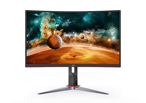 AOC CQ27G2 27' Super Curved Frameless Gaming Monitor QHD 2K, 1500R Curved VA,...