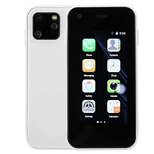 Archuu XS11 Smartphone, 2.5 Pulgadas 3G Mini WiFi Smartphone Teléfono móvil portátil Sistema Inteligente 240 * 432 Resolución 200W + 500W Cámara Dual para Android(Blanco)