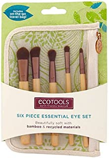 Authentic Organic Natural EcoTools BAMBOO Starter Makeup Brush Set Eco Tools Make up (6 Piece Eye Set)