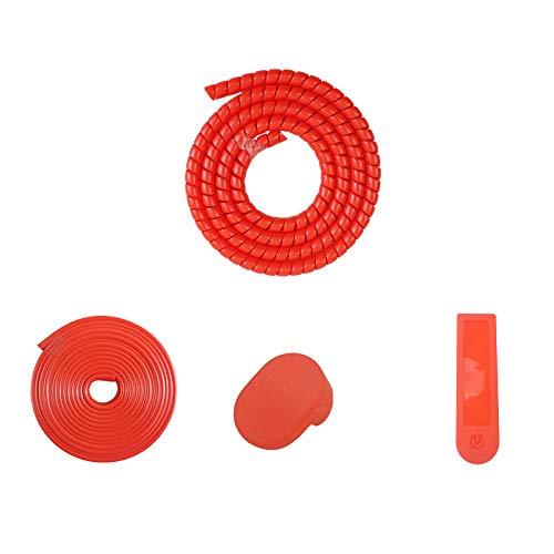 ACAMPTAR Juego de ProteccióN de Scooter EléCtrico para Piezas de ProteccióN Mijia M365 Pro (Rojo)