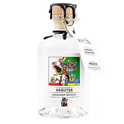 Sauerlaender Gin Kräuter - enthält frische Kräuter -einzigartiger Genuss - Made in Germany I Alkohol-Gehalt 40 Vol.-% - 1 x 35l