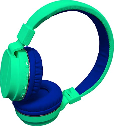 Maxell 199720 Lightweight Comfortable Foldable Safe Soundz Hearing Protection & Noise Canceling Headphones - Blue Headphone
