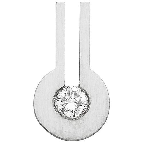 JOBO Damen Anhänger 950 Platin matt 1 Diamant Brillant 0,10ct.