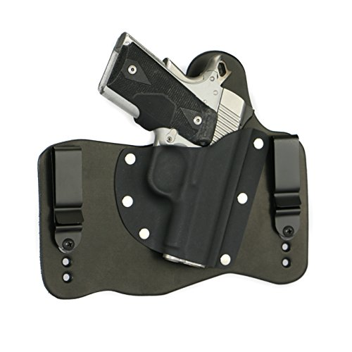 FoxX Holsters Kimber 1911 Ultra Carry II, Ultra TLE II in The Waist Band Hybrid Holster (Black)