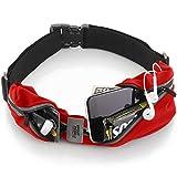 sport2people Cinturón de Correr, Patentado en E.E. U.U, Riñonera iPhone X 6 7 8 para Hombres y Mujeres