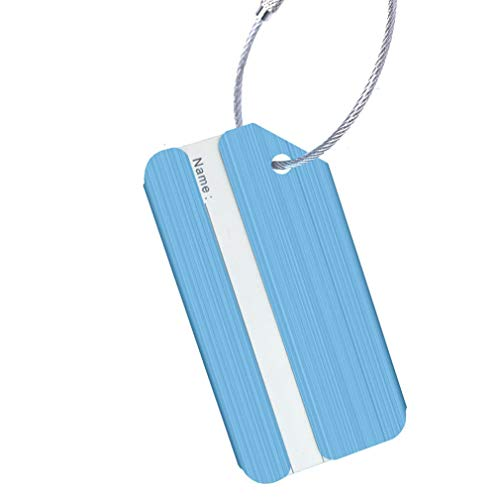 PULABO Luggage Tag for Business Trip Airplane Luggage Tag Anti-Rust Metal Suitcase Tag Cruise Luggage Tag Superior Quality and Creativeè€ä¹…性
