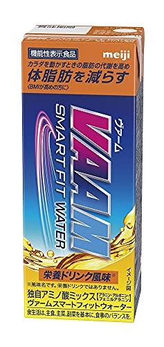 (2ケース) VAAM ヴァームスマートフィットウォーター 栄養ドリンク風味 200ml×48本 (機能性表示食品。) 明治