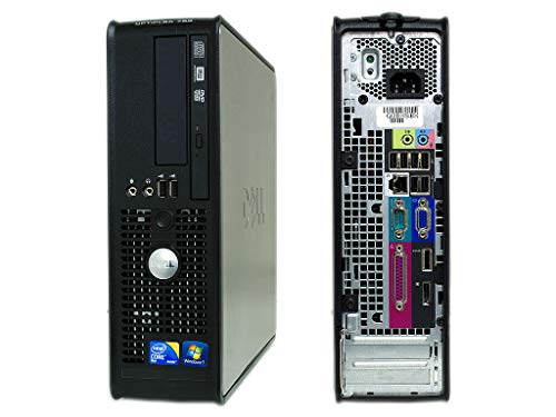 Dell Ordinateur de bureau fixe reconditionné Optiplex Dell 780 Dual Core 250 Go Disque dur 4 Go RAM W10 Pro (reconditionné certifié)