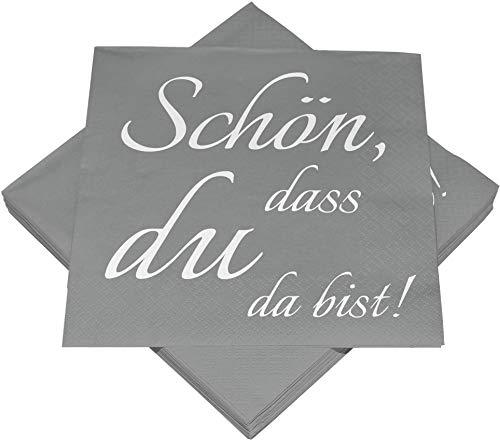 Heku 30243-136: 100 Servietten, 3-lagig, Schön DASS, 33x33cm