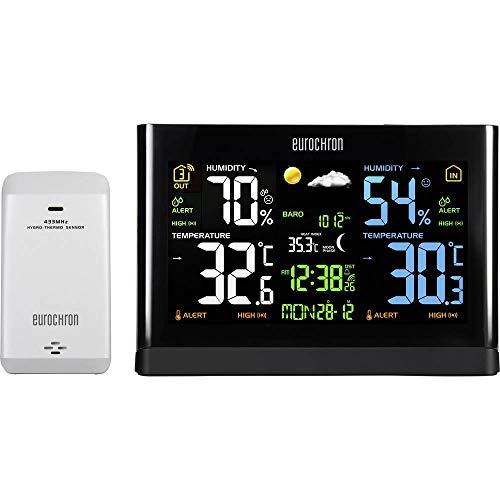 Eurochron 1615871 Funk-Wetterstation Vorhersage für 12 bis 24 Stunden