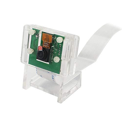 weichuang Elektronisches Zubehör Kameramodul transparente Halterung Gehäuse Acryl Halter Kit für RPi Elektronikteile Elektronikzubehör (Farbe: D)