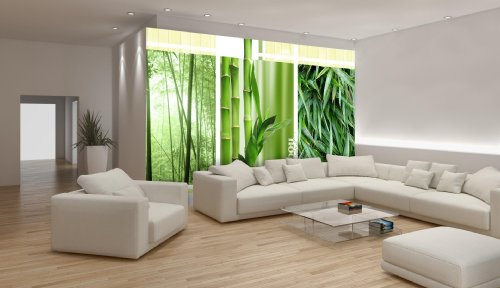 Where to buy bamboo triple wallpaper mural shalm dfge for Bamboo mural wallpaper