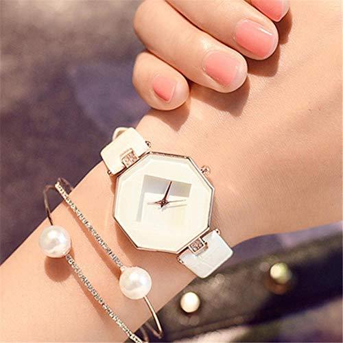 BSZ Damen-Armbanduhr weiß