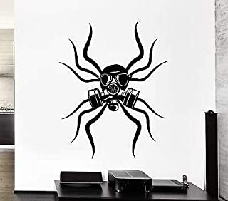 V-studios Wall Decal Spider Tribal Gas Mask Toxic Coolest Mural Vinyl Stickers VS002