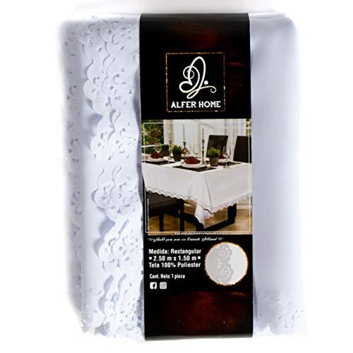 mantel blanco antimanchas de la marca Alfer Home