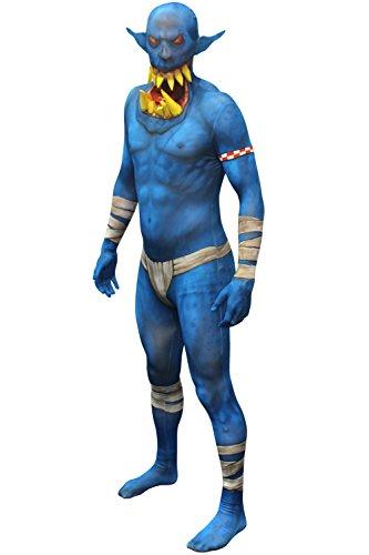 Morphsuits - Bleu Orc Jaw Dropper Pour Hauteur 150-165 Cm - Taille M