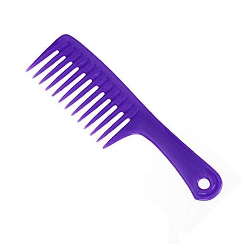 くし、大型ナイフくしプラスチック大歯ワイド歯櫛フラット櫛ハンディポータブルメイクくしシャンプーくし (Color : B)