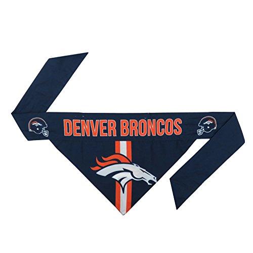 Littlearth unisex-adult NFL Denver Broncos Pet Bandanna, Team Color , Large
