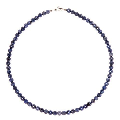 Blauquarz Schmuck (Halskette) Blauquarz Kette Blauquarz Kugeln Größe ca. 6 mm Verschluss 925er Sterling-Silber Modellnummer 1320