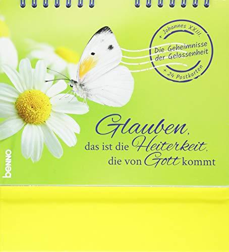 Postkarten-Aufsteller »Glauben, das ist die Heiterkeit, die von Gott kommt - Die Geheimnisse der Gelassenheit««: Aufsteller mit 24 Postkarten zum Heraustrennen (perforiert)