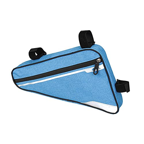 MPGIO Sac de vélo étanche Sac de vélo Avant Tube Cadre Sac VTT Pochette Sac de Selle Sport de Plein air Accessoires d'équitation Sac de vélo(Color:Blue)