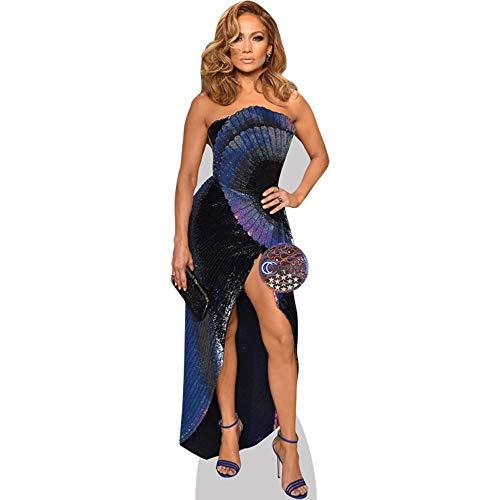 Celebrity Cutouts Jennifer Lopez (Blue Dress) Pappaufsteller lebensgross