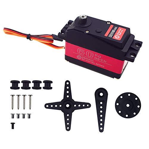 ZOSKAY Baja Servo 60kg DS5160 SSG HV Digitaler Servo für 1/5 Redcat HPI Baja 5B SS RC Auto kompatibel mit SAVOX-0236 LOSI XL 5T (Control Angle 180)
